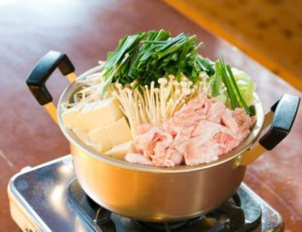 【おススメ№1】豚もつ鍋(基本のしょうゆ味)