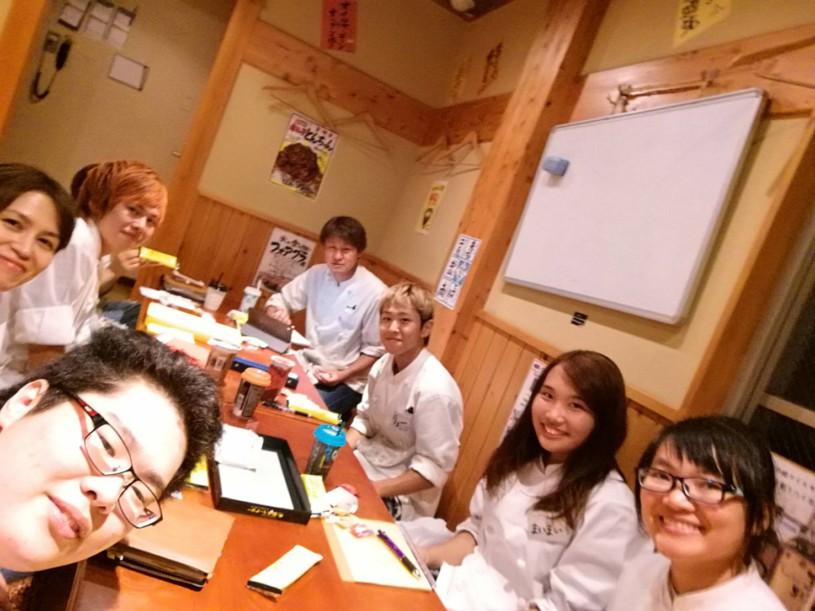 東岡崎 明月 アルバイトさんも参加のミーティング